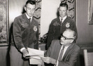 NMFFA State Officers Garrey Carruthers & Don Larson, 1958